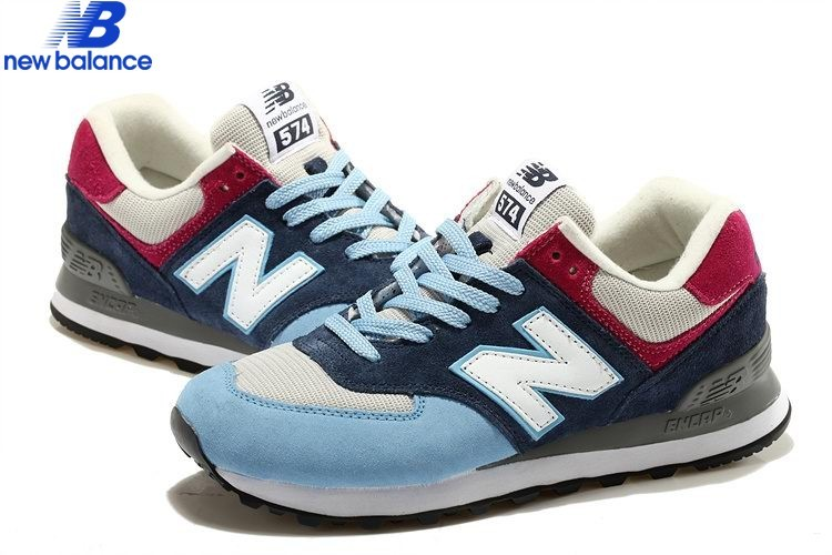 8590e9bde97a ... New Balance Ml574 Bleu White Red Men's - New Balance Ml574 Bleu White  Red Men's- ...