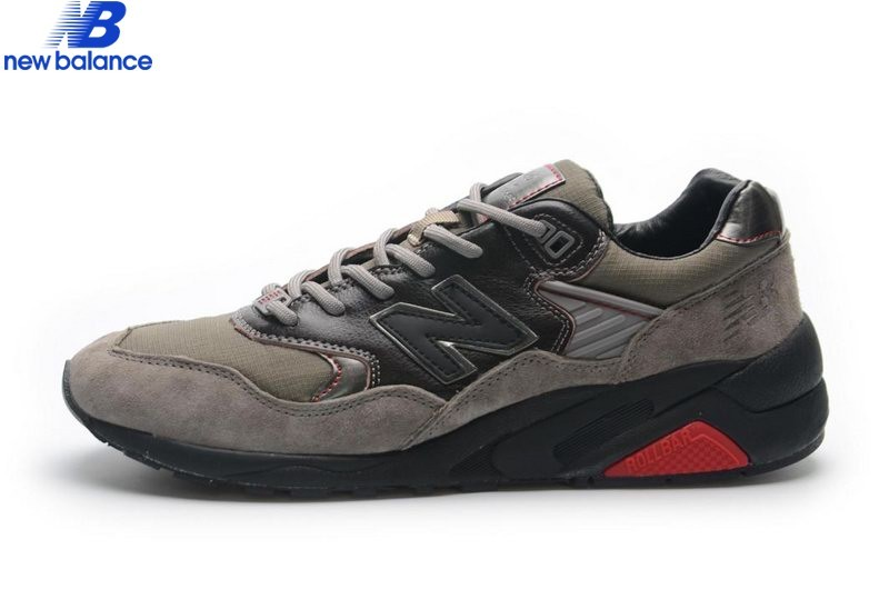Men's New Balance Mrt580 Brun Gray Black Shoe  - Men's New Balance Mrt580 Brun Gray Black Shoe-01-2