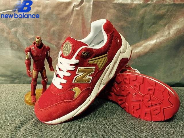 New Balance Wrt580gd x Iron Man Red Or White Shoe Women's - New Balance Wrt580gd x Iron Man Red Or White Shoe Women's-01-9
