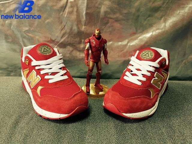 New Balance Wrt580gd x Iron Man Red Or White Shoe Women's - New Balance Wrt580gd x Iron Man Red Or White Shoe Women's-01-4