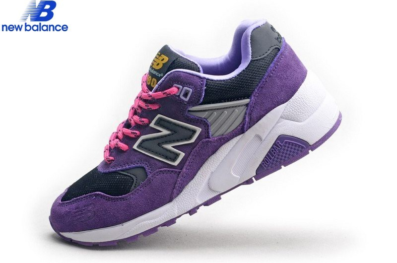New Balance Wt580 Purple Black White Shoe Women's - New Balance Wt580 Purple Black White Shoe Women's-01-5