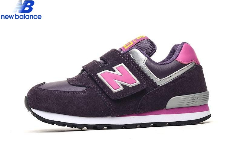 New Balance Kv574ppy Black Purple Red Kids Shoe  - New Balance Kv574ppy Black Purple Red Kids Shoe-01-10