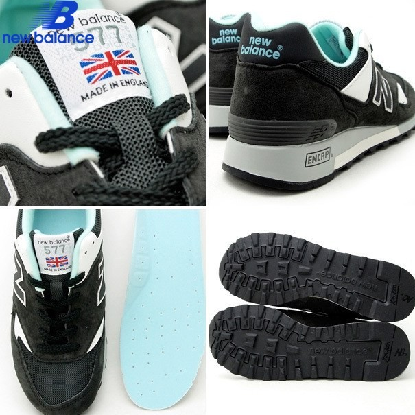 New Balance m577 Made In England Limited Edition Black Cyan White Men's Shoe - New Balance m577 Made In England Limited Edition Black Cyan White Men's Shoe-01-5
