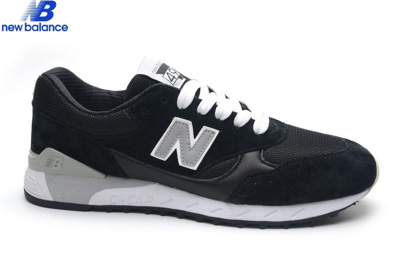 Men's New Balance 496 Classic Black Gray Shoe  - Men's New Balance 496 Classic Black Gray Shoe-01-4