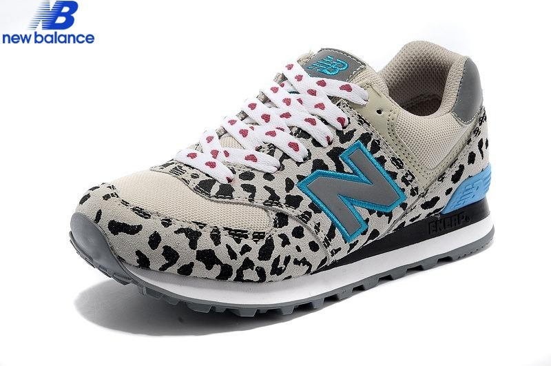 New Balance 574 Leopard Print Edition Bleu Gray Women's Shoe