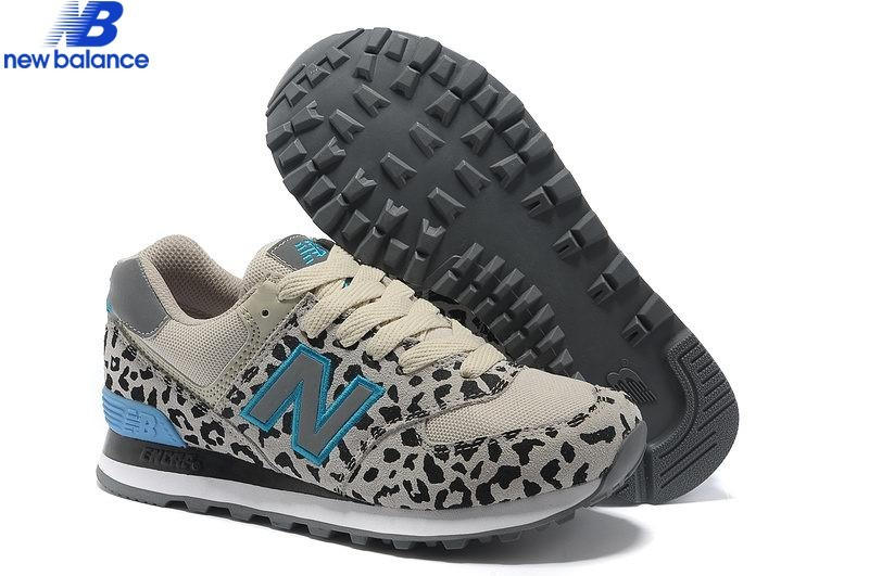 New Balance 574 Leopard Print Edition Bleu Gray Women's Shoe  - New Balance 574 Leopard Print Edition Bleu Gray Women's Shoe-01-7