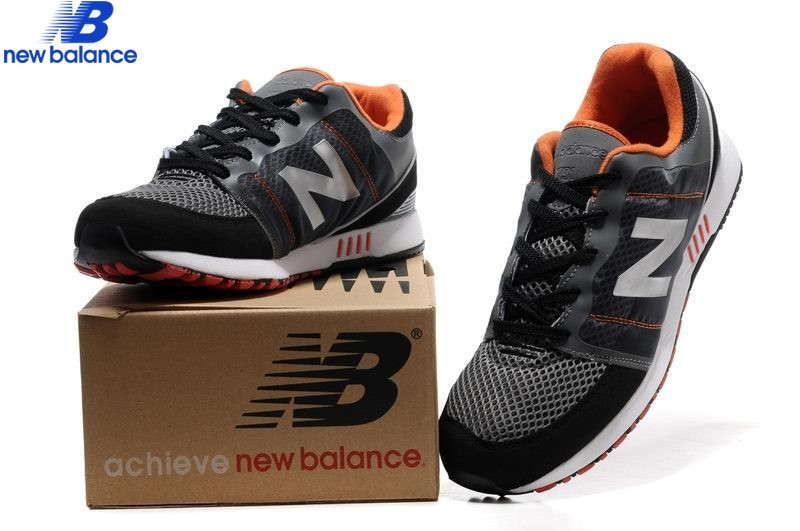 Men's New Balance 751 Black Orange Silver Mesh Shoe  - Men's New Balance 751 Black Orange Silver Mesh Shoe-01-5