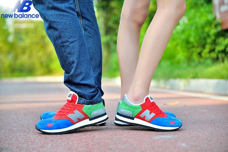 New Balance 990 Forest Sapphire Bleu Red Green Women's Shoe  - New Balance 990 Forest Sapphire Bleu Red Green Women's Shoe-01-7