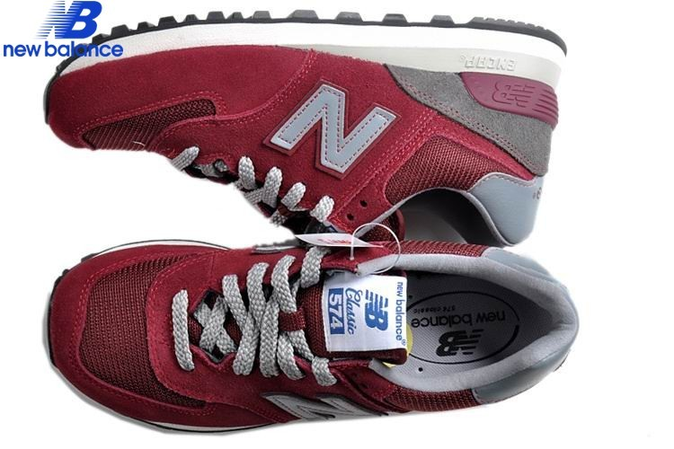 New Balance Ml574bry Wine Red Green Lovers Skateboard Men's Shoe - New Balance Ml574bry Wine Red Green Lovers Skateboard Men's Shoe-01-1