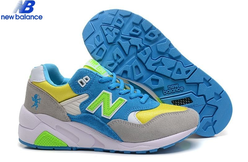 New Balance w580 Cupid Bleu Gray Yellow Women's Shoe  - New Balance w580 Cupid Bleu Gray Yellow Women's Shoe-01-6