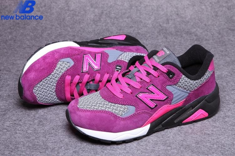 New Balance Wrt580cr Purple Red Black Women's Shoe  - New Balance Wrt580cr Purple Red Black Women's Shoe-01-2