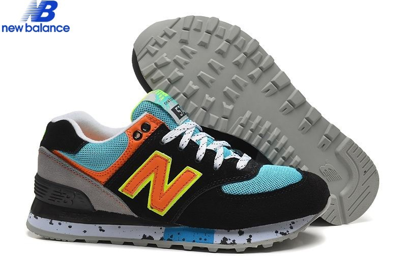 new balance bleu orange femme