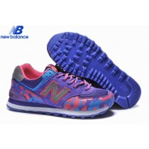 Women's New Balance Wl574 Camo Purple Gray Red Shoe-20