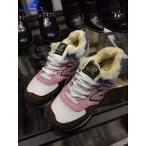 New Balance Wl574 Wool Doraemon Shizuka Pink Black Bleu Winter Warm Shoe Women's-20