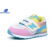 New Balance Kv574lpy White Pink Yellow Kids Shoe-20