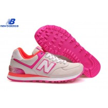 New Balance Wl574apg Alpine Gray With Pink Orange Women's Shoe-20