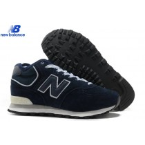 New Balance Hm574vn Middle-Cut Suede Retro Dark Bleu Skateboard Men's Shoe-20