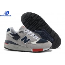 New Balance m998gnr Light Gray Red Bleu Men's Shoe-20