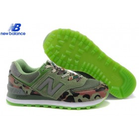 Women's New Balance Wl574cgg Camo Green Shoe