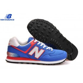 New Balance Ml574apb Alpine Bleu Grotto With Orange White Classic Men's