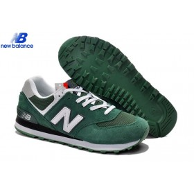 New Balance Ml574cpy Suede Hunter Green White Skateboard Men's Shoe