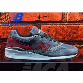 New Balance m997ccf Charcoal Burgundy Men's