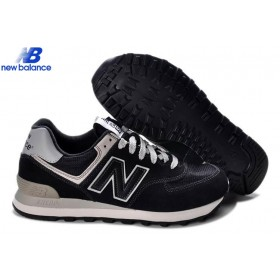 New Balance Wl574bbk Black Gray Lovers Women's Shoe