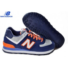 New Balance Wl574hng Retro Lovers Deepblue Gray Orange Women's Shoe