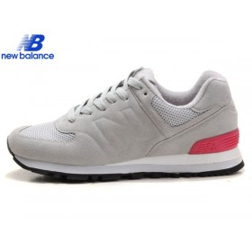 Women's New Balance Ws574gp Sonic Gray Pink Red Shoe