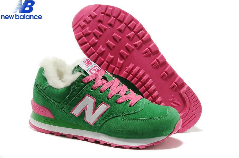New Balance Wl574ykg Suede Wool For Winter Green White Warm Shoe Women's - New Balance Wl574ykg Suede Wool For Winter Green White Warm Shoe Women's-01-0