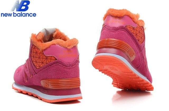 New Balance Wh574wsr Middle-Cut Leather Boots Purple Pink Red - New Balance Wh574wsr Middle-Cut Leather Boots Purple Pink Red-01-7