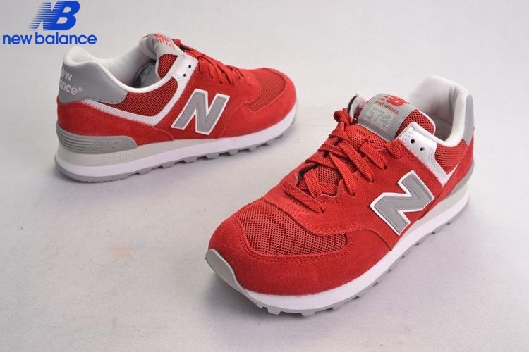 New Balance 574 Retro Lovers Suede Red Gray Men's Shoe  - New Balance 574 Retro Lovers Suede Red Gray Men's Shoe-01-4