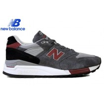 New Balance m998gr Made In Usa Gray Black Red Men's Shoe-20